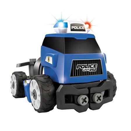 Машинка-конструктор Devik Toys Синяя машинка (звук свет)