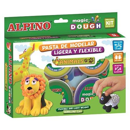 Набор пасты для лепки ALPINO Волшебное тесто (Животные) 240 гр 6 цв.