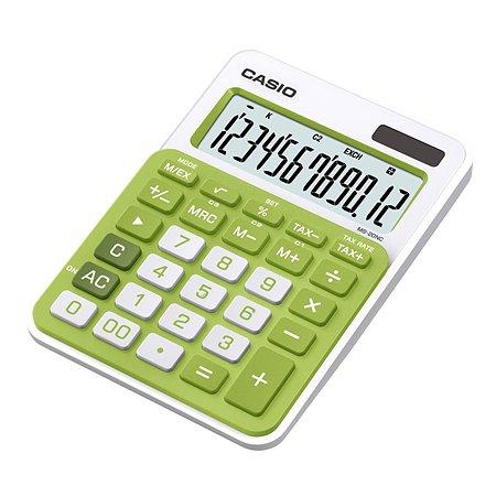 Калькулятор Casio MS-20NC-GN-S-EC настольный 12разрядный Зеленый