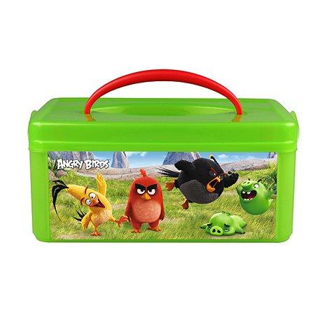 Коробка универсальная Angry Birds с ручкой с аппликацией ANGRY BIRDS