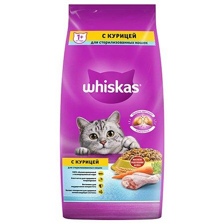 Корм сухой для кошек Whiskas 5кг подушечки с курицей стерилизованных