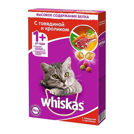 Корм сухой для кошек Whiskas 350г подушечки с паштетом с говядиной и кроликом