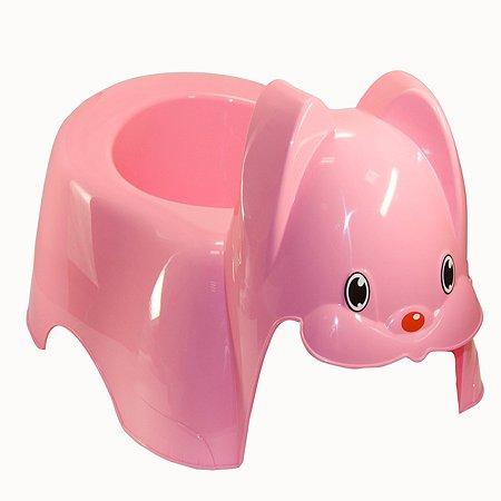 Горшок IDEA Зайка Розовый М 2594