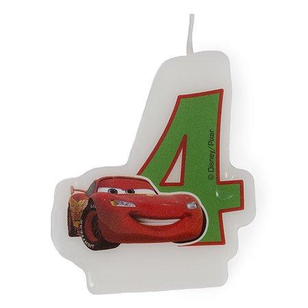 Праздничная свеча Cars Formula Цифра 4