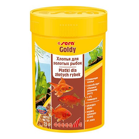 Корм для золотых рыб Sera Goldy хлопья 22г