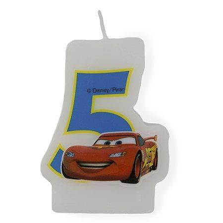 Праздничная свеча Cars Party Favors Цифра 5