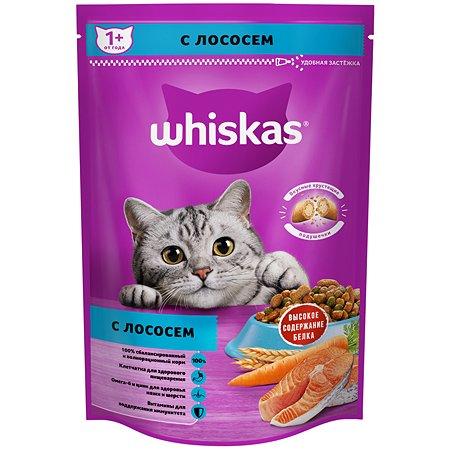 Корм сухой для кошек Whiskas 350г подушечки с паштетом с лососем 3