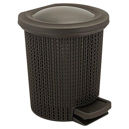 Контейнер для мусора SVIP Ajur с педалью 6л Венге