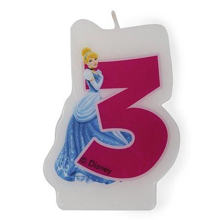 Праздничная свеча Disney Princess Princess Цифра 3
