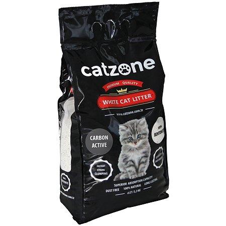 Наполнитель для кошек Catzone комкующийся с активированным углем 5.2кг