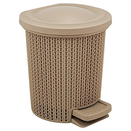 Контейнер для мусора SVIP Ajur с педалью 6л Кофейный