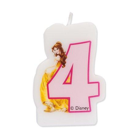 Праздничная свеча Disney Princess Princess Цифра 4