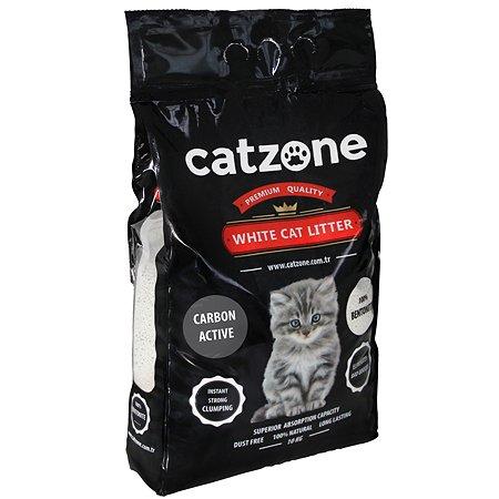 Наполнитель для кошек Catzone комкующийся с активированным углем 10кг