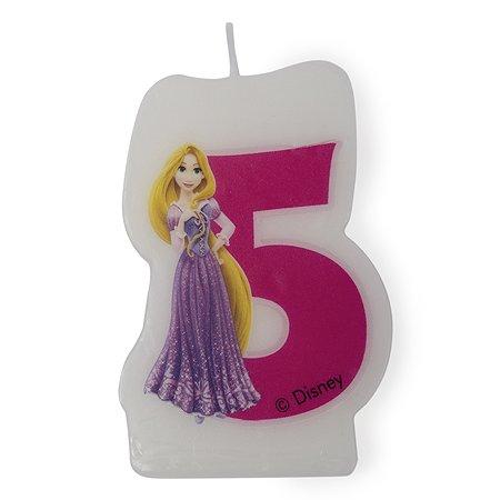 Праздничная свеча Disney Princess Princess Цифра 5