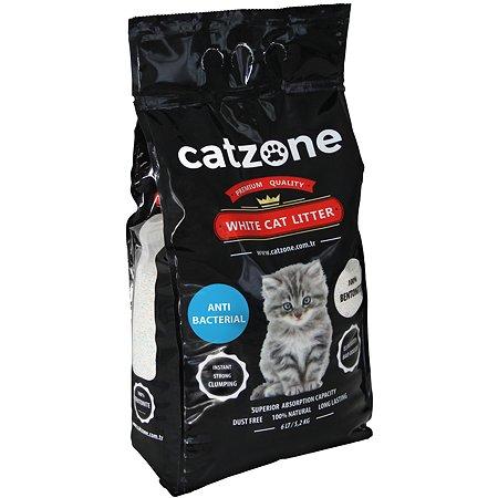 Наполнитель для кошек Catzone комкующийся антибактериальный 5.2кг