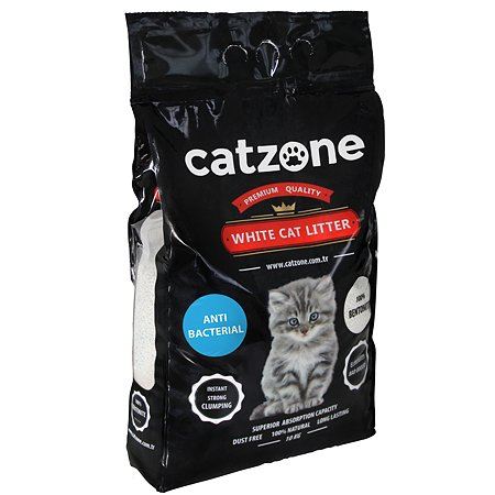 Наполнитель для кошек Catzone комкующийся антибактериальный 10кг