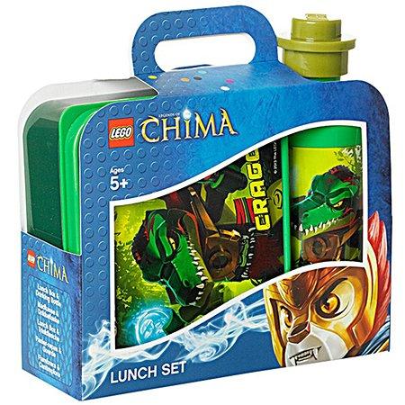 Ланчбокс LEGO Legends of Chima зеленый+бутылка 4059ChG