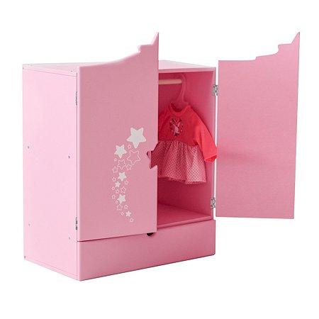 Мебель для кукол PAREMO Шкаф Звездочка Розовый PFD120-63