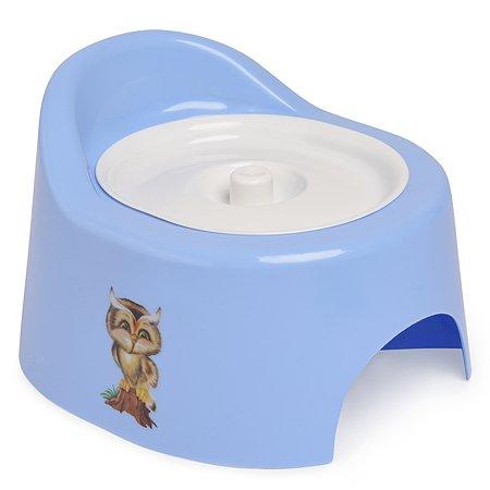 Горшок детский Полимербыт с крышкой Голубой