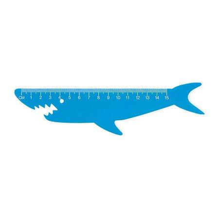 Линейка Erhaft Акула 15см RL16013