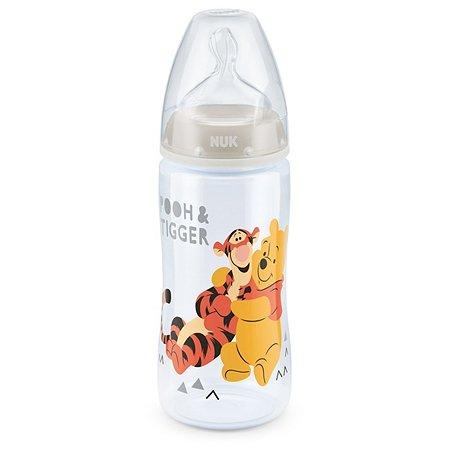 Бутылочка Nuk Disney First Choice Plus 300мл Серая