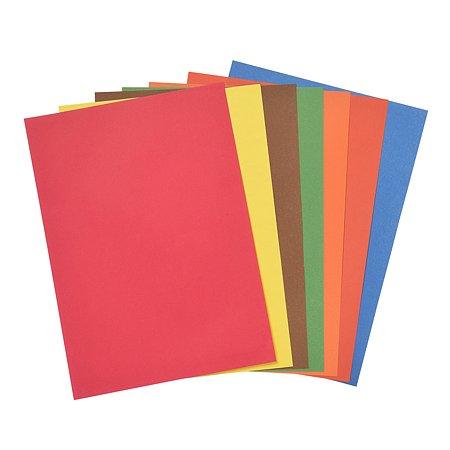 Бумага цветная Koh-I-Noor А4 8цв 8л