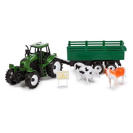 Трактор Mobicaro инерционный со световыми и звуковыми эффектами с аксессуарами