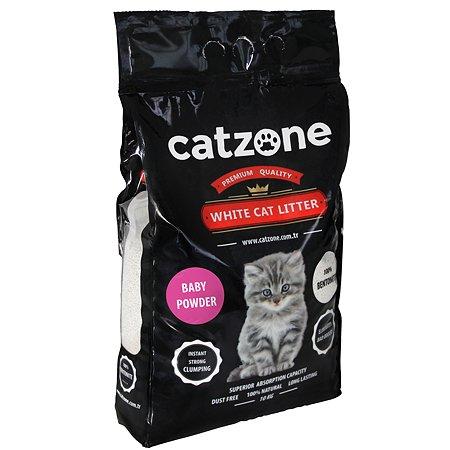 Наполнитель для кошек Catzone комкующийся бэйби паудэр 10кг