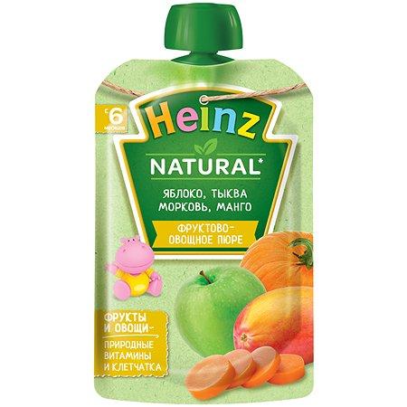 Пюре Heinz яблоко-тыква-морковь-манго 90г с 6месяцев
