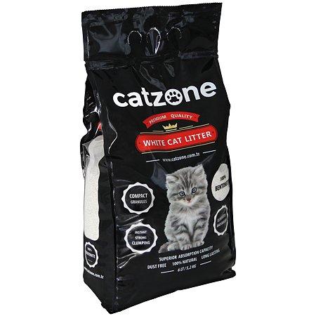 Наполнитель для кошек Catzone комкующийся натуральный 5.2кг