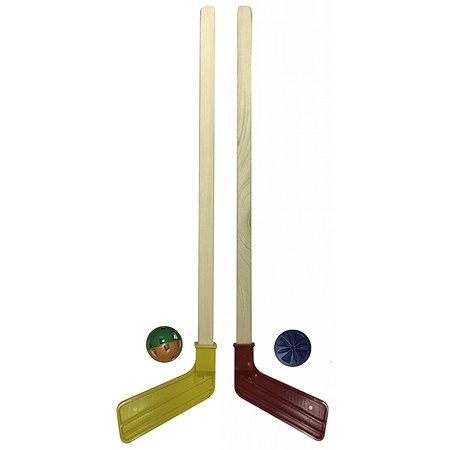 Набор для хоккея ASE-SPORT 2 клюшки+шайба+мячик 12-2