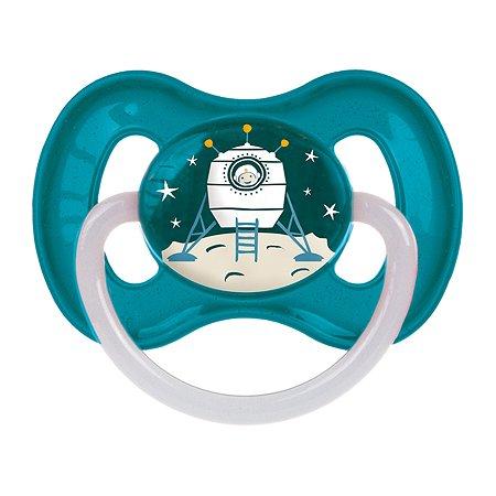 Пустышка Canpol Babies Space круглая латексная 6-18 месяцев Бирюзовая