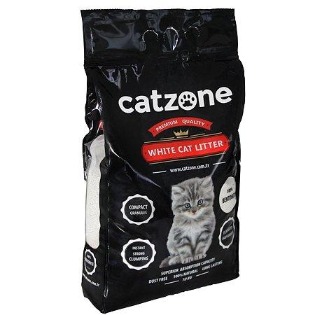 Наполнитель для кошек Catzone комкующийся натуральный 10кг