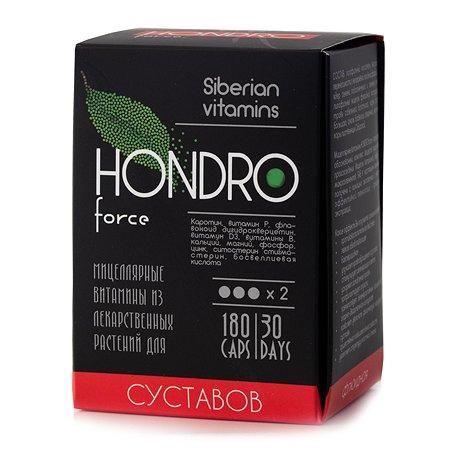 Экстракт масел Сиб-КруК Siberian Vitamins HondroForce для суставов 180капсул