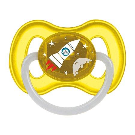 Пустышка Canpol Babies Space круглая латексная 6-18 месяцев Желтая