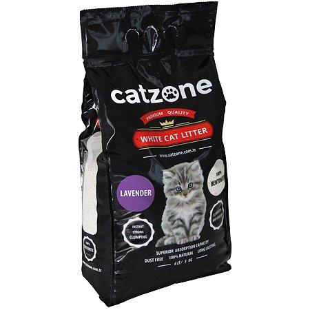 Наполнитель для кошек Catzone комкующийся лаванда 5кг