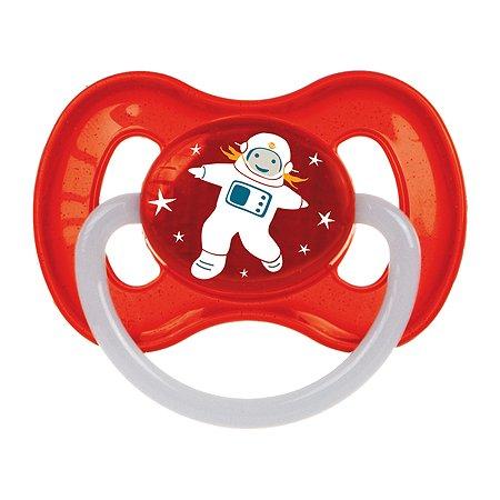 Пустышка Canpol Babies Space круглая латексная 6-18 месяцев Красная