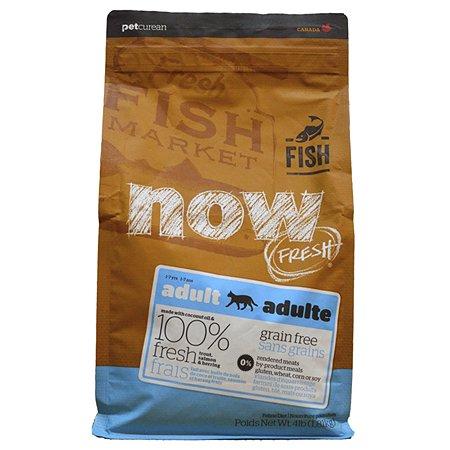 Корм сухой для кошек Now Fresh 1.81кг беззерновой с форелью и лососем для чувствительного пищеварения