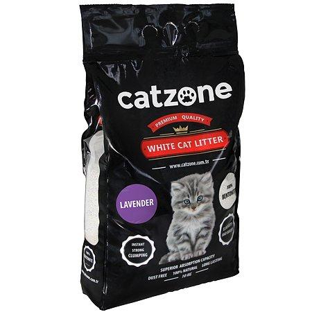Наполнитель для кошек Catzone комкующийся лаванда 10кг