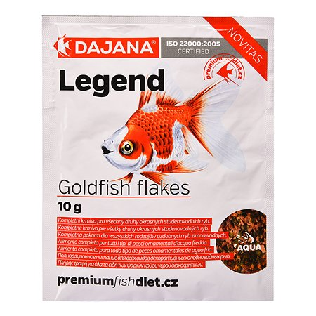 Корм для рыб DAJANA Legend Goldfish Хлопья 80мл DP017S0