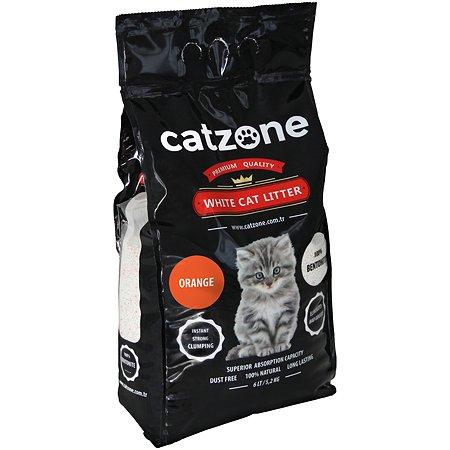 Наполнитель для кошек Catzone комкующийся цитрус 5.2кг