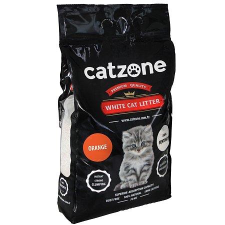 Наполнитель для кошек Catzone комкующийся цитрус 10кг