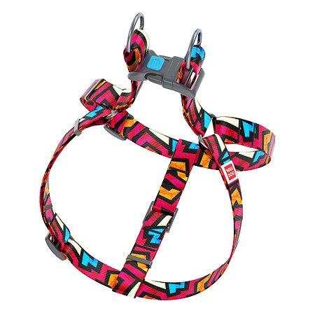 Шлея для собак Waudog Nylon Граффити крупная 5016