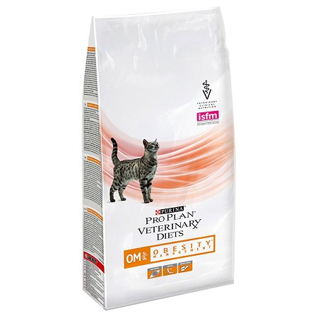 Корм для кошек Purina Pro Plan Veterinary diets OM при ожирении 1.5кг