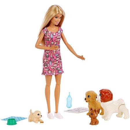 Кукла Barbie и щенки FXH08
