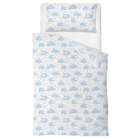 Комплект постельного белья Baby Nice Облака 4предмета Голубой H19/6BL
