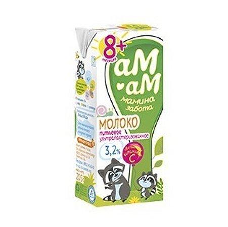 Молоко Ам-Ам ультрапастеризованное витамин С 3.2% 0.205г с 8месяцев