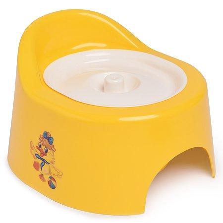 Горшок детский Полимербыт с крышкой Желтый
