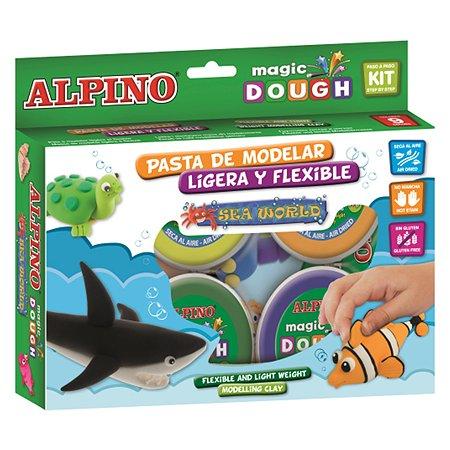 Набор пасты для лепки ALPINO Волшебное тесто (Морской мир) 240 гр 6 цв.
