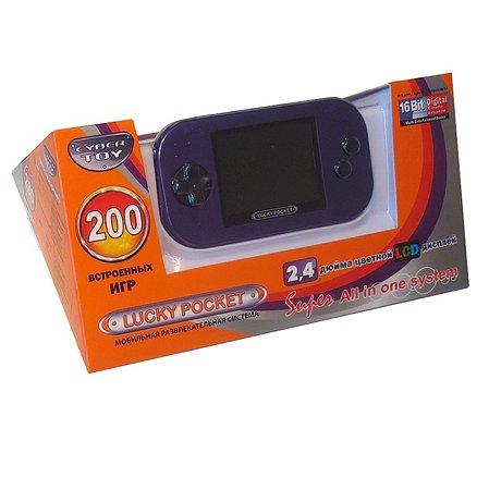 Игровая приставка CyberToy LuckyPocket 200 игр (фиолет)